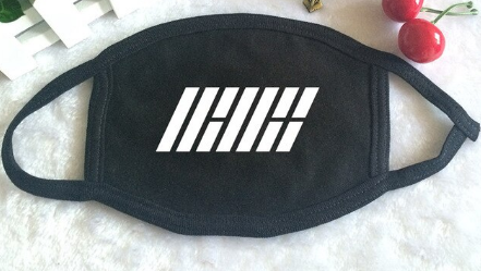 K-POP iKON Logo Mouth Face Mask