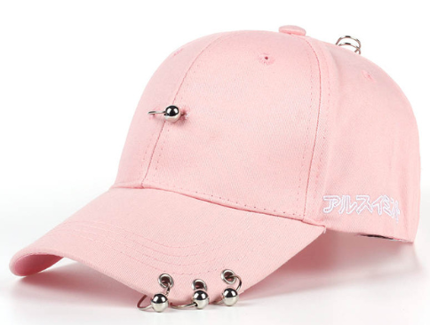 K-POP Solid Color Iron Ring Hats