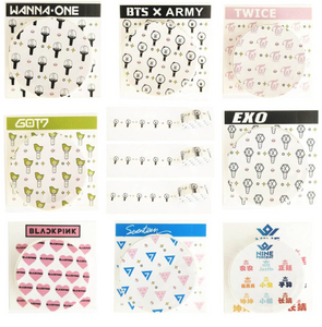 K-POP BTS Washi Tape TWICE WANNA ONE EXO BLACKPINK SEVENTEEN NINE PERCENT G0T7 Cute Paper Masking Scrapbook Notebook Sticker