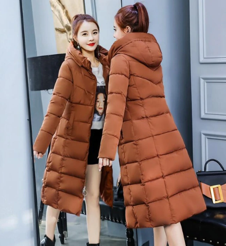 Winter Jacket Women Coats Hooded Coats Female Parka Thick Cotton Padded Lining Winter Female Coats
