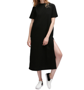 Long T-shirt Side High Slit Dress