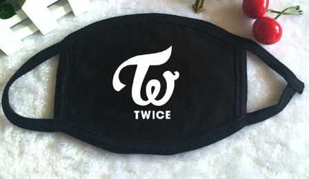 K-POP TWICE Album What is Love Logo Print Mouth Face Mask