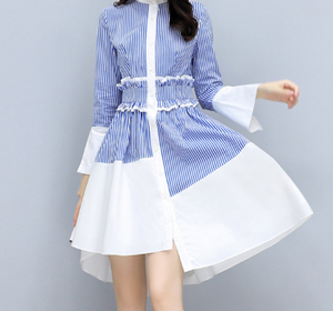 Korean Flare Sleeve Dress