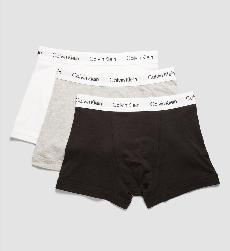 Calvin Klein - 3 Pack Trunks (White, Grey, Black)