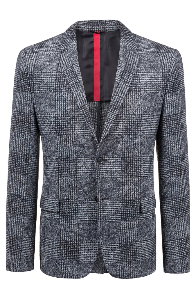 HUGO BOSS - Arwido Slim-fit Glen Check Blazer