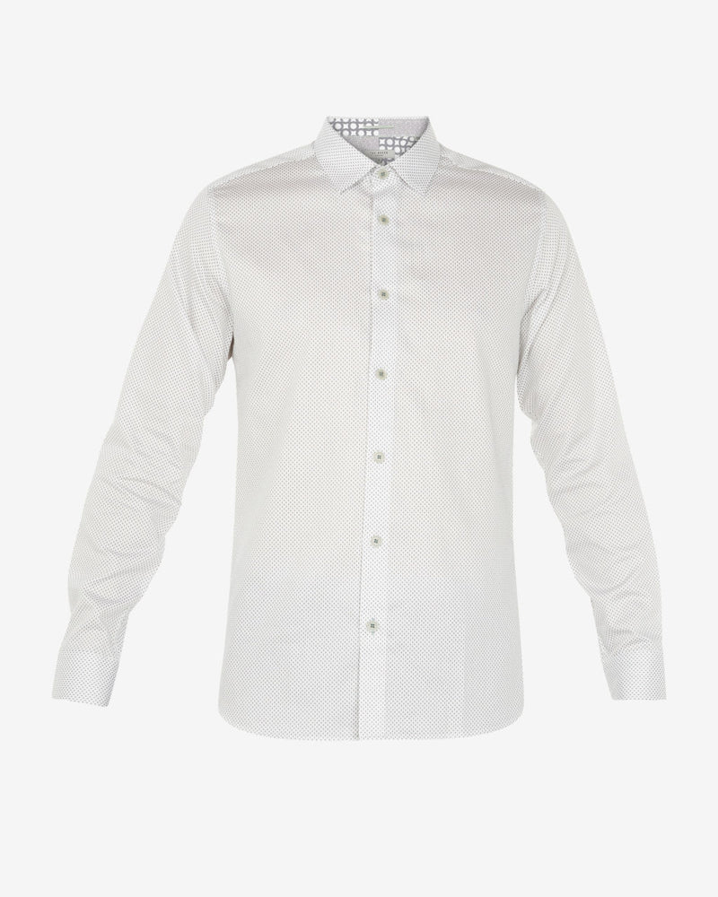 Ted Baker - Boomtwn Micro-Geo Printed Shirt (White)