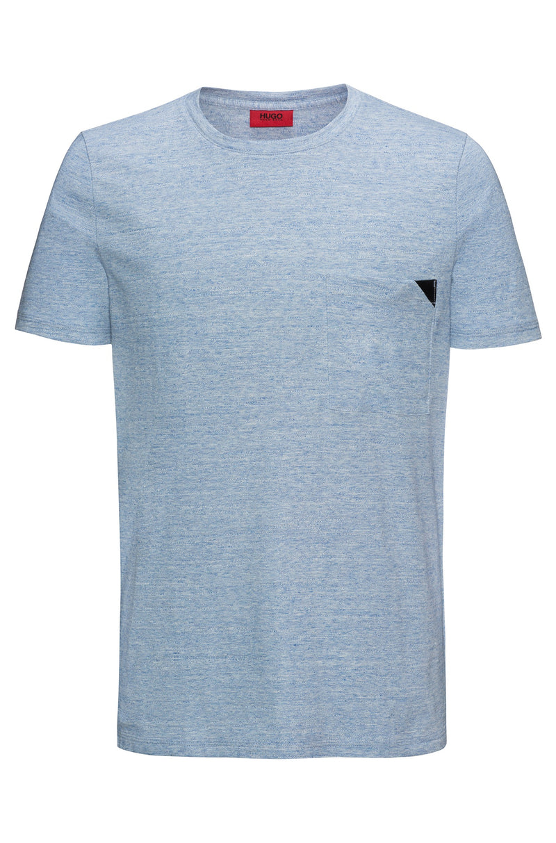 HUGO BOSS - Dohnny Melange Cotton Tee (Blue)