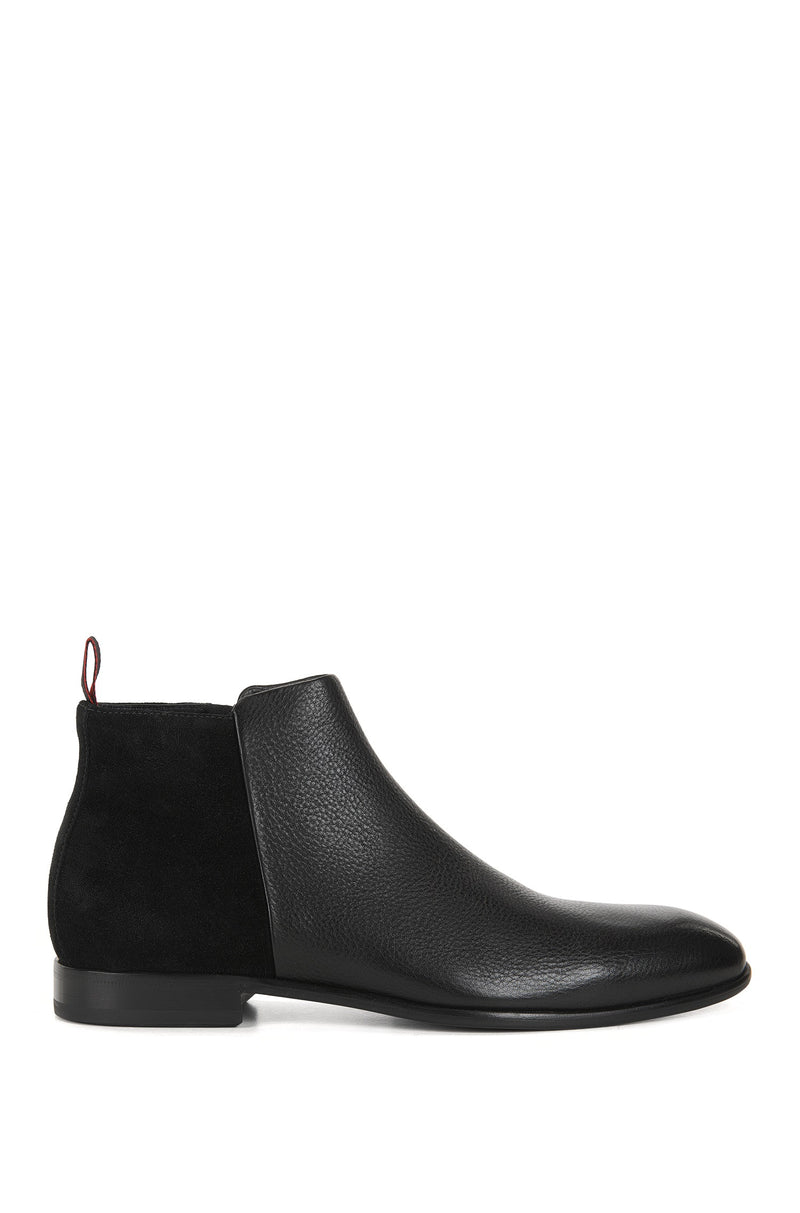 HUGO Red - Dressapp Formal boots in grained leather and suede