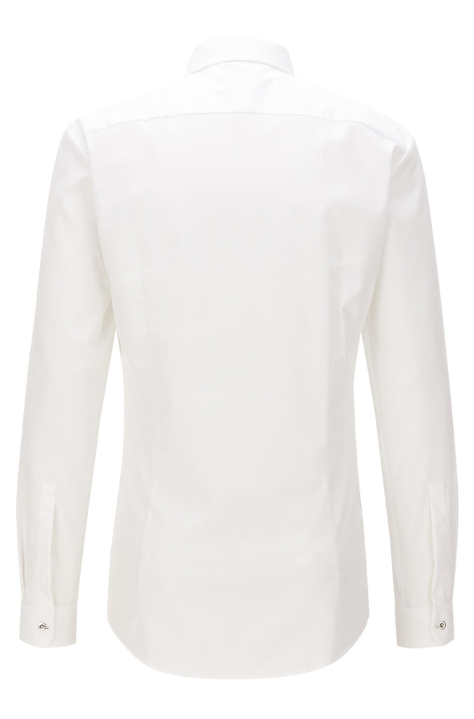 HUGO Red - Ebros Slim-fit cotton shirt with concealed placket (White)