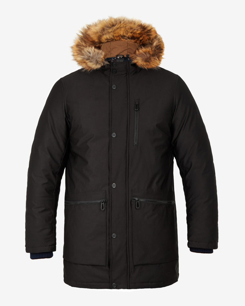 Ted Baker - Gouda Faux Fur Hooded Parka