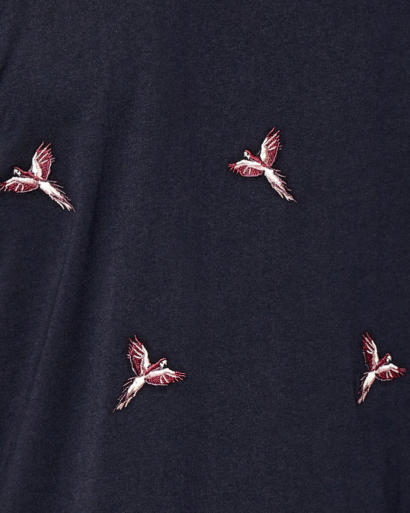 TED BAKER - HAPNES BIRD EMBROIDERED COTTON POLO