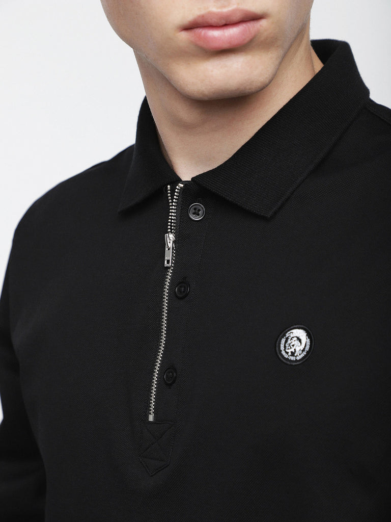 Diesel - Hart Long Sleeve Polo (Black)
