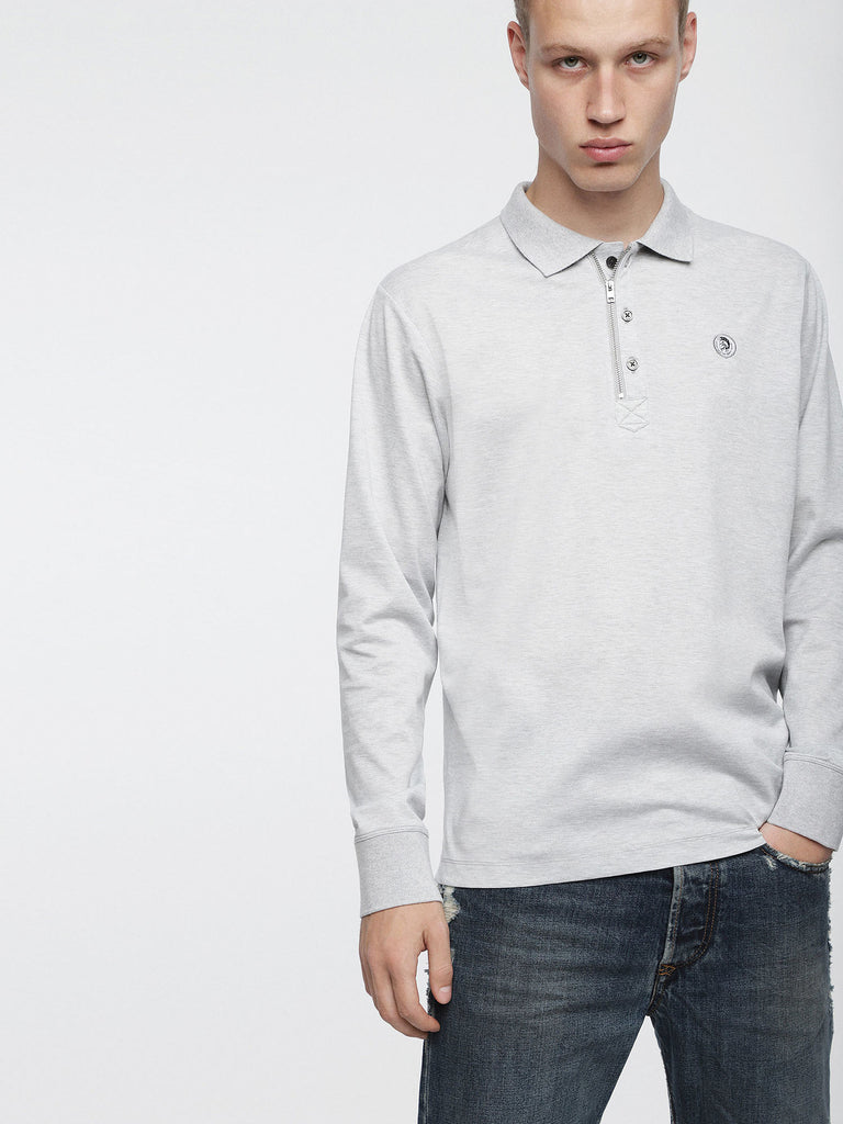 Diesel - Hart Long Sleeve Polo (Grey)
