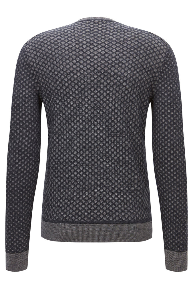 BOSS Orange - Kewarco Regular-fit sweater in 3D-effect cotton