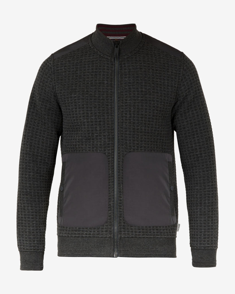 TED BAKER - NARN QUILTED FUNNEL NECK JACKET (CHARCOAL)