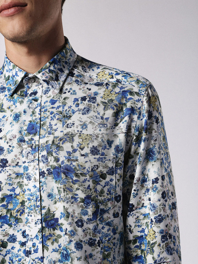 Diesel - Nico all-over printed soft feel shirt (Blue)