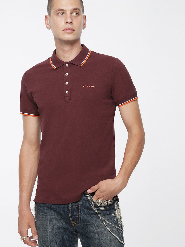 DIESEL - RANDY TIPPED COLLAR POLO (Plum)