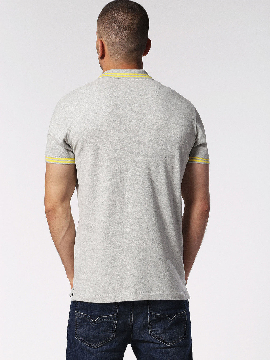 Diesel - Randy stretch cotton tipped polo (Grey)