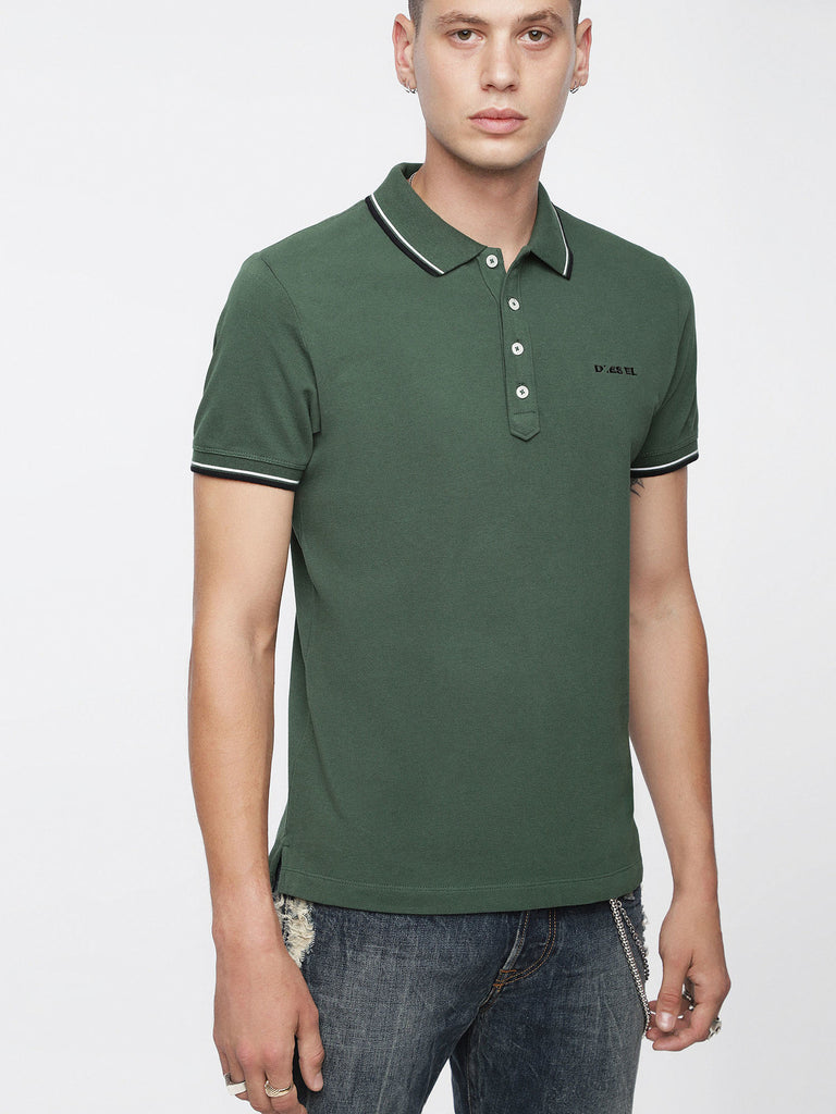 DIESEL - RANDY TIPPED COLLAR POLO (Green)