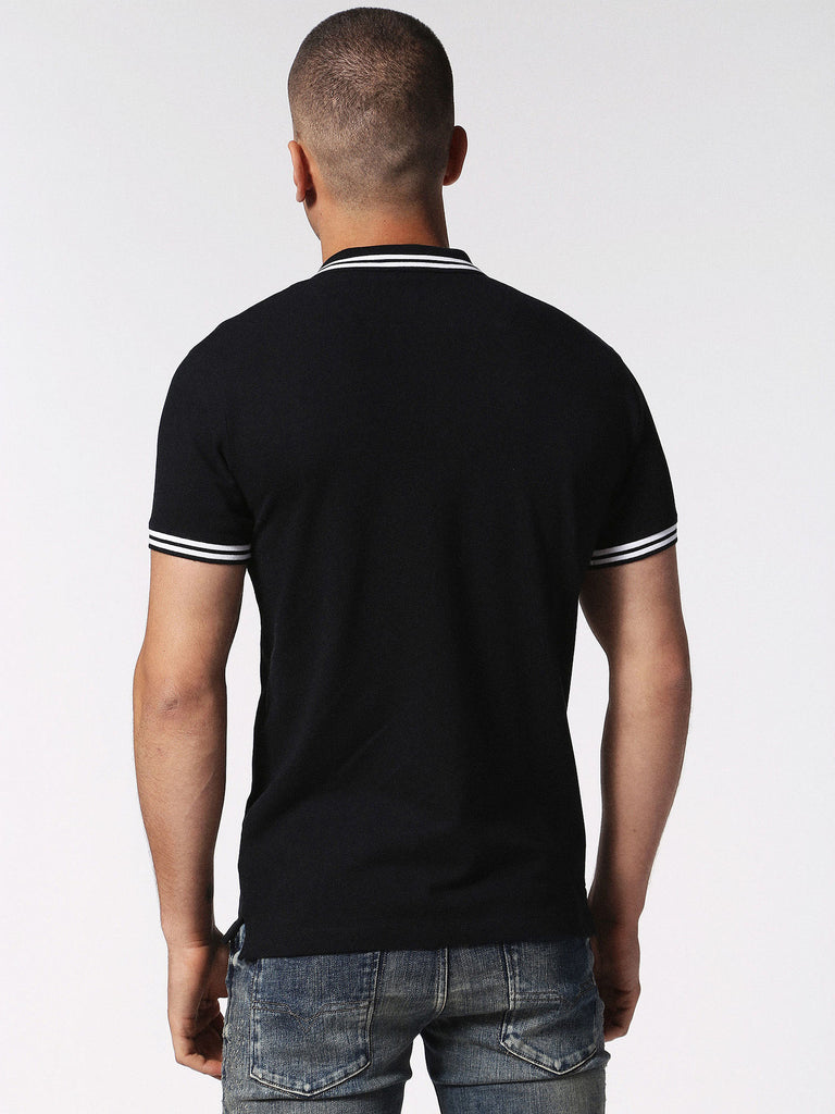Diesel - Randy stretch cotton tipped polo (Black)
