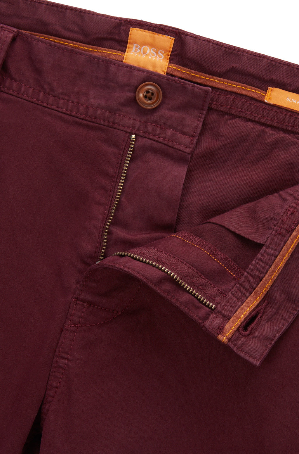 BOSS Orange - Schino Slim-fit chinos in brushed stretch cotton