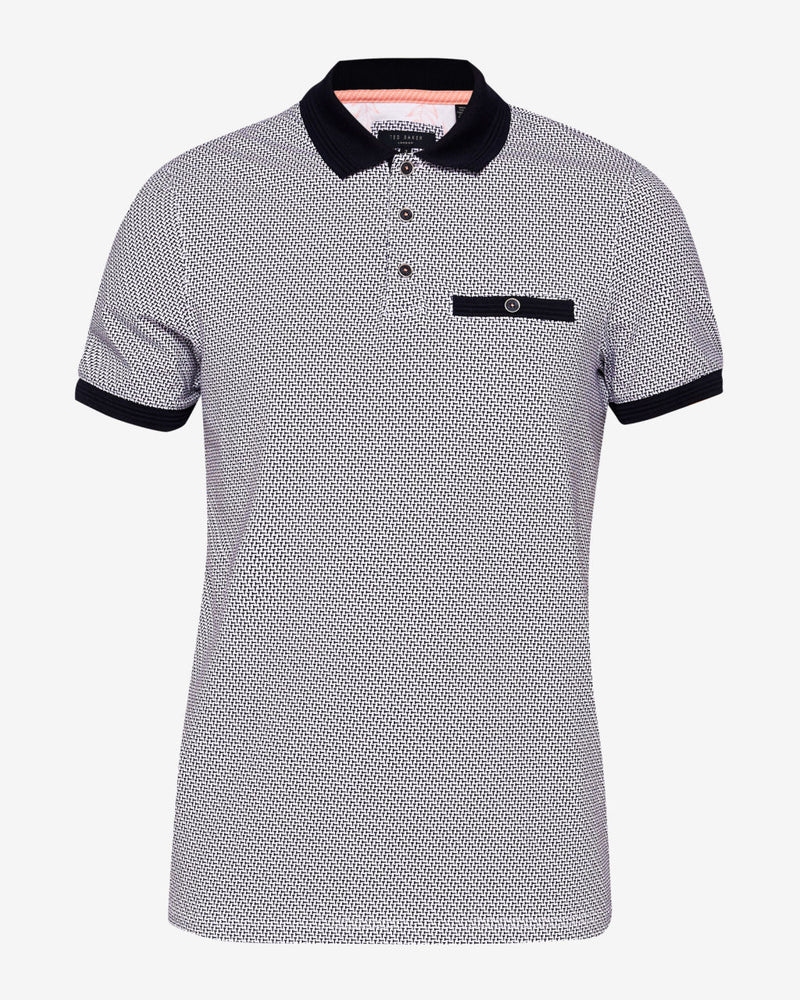 Ted Baker - Sloughi Geo Print Polo (Navy)