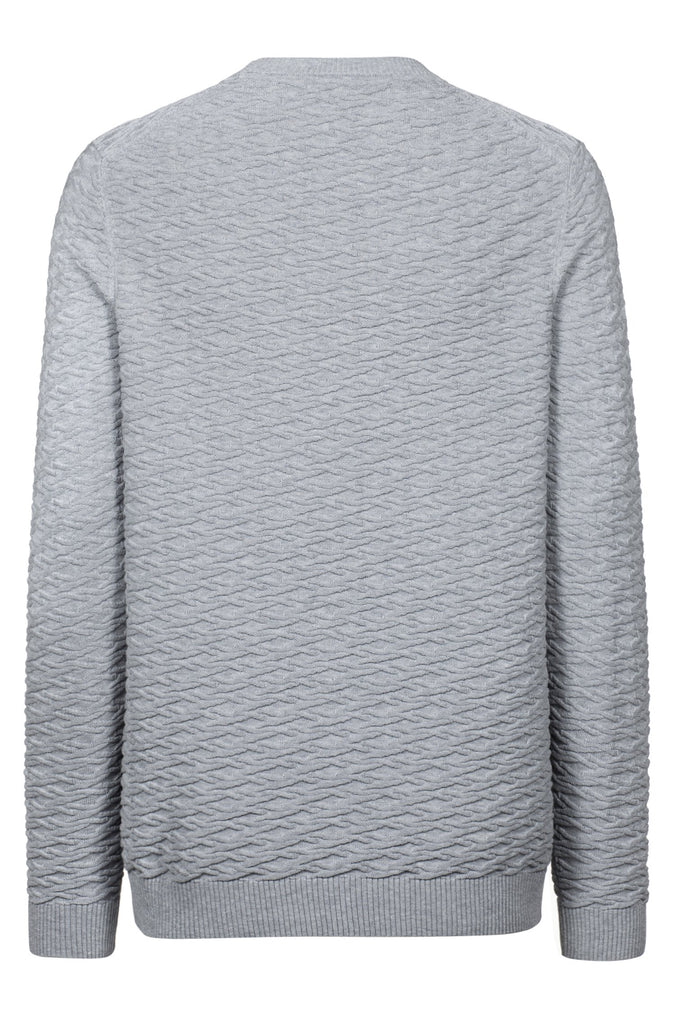 HUGO BOSS - SUBERON COTTON KNITTED SWEATER