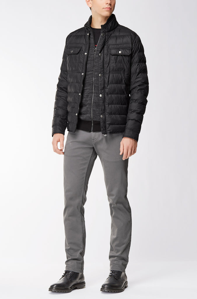 BOSS Orange - Zayan Zip-through jacket in a cotton blend