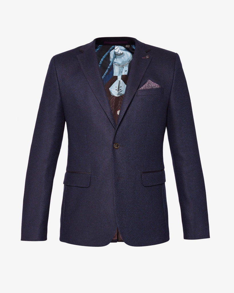 Ted Baker - Glen semi-plain wool blend blazer