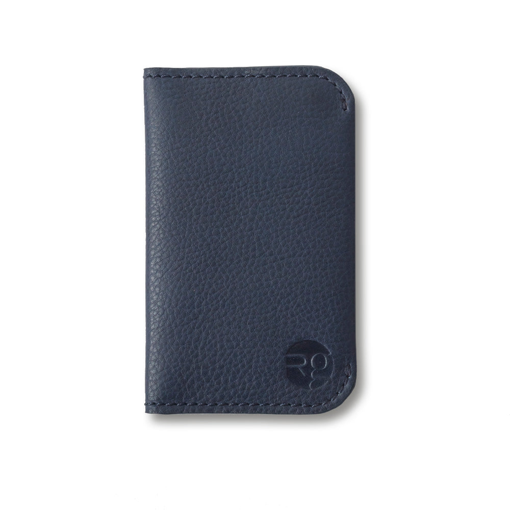 RG - Leather 'On the Town' Card Holder (Navy)