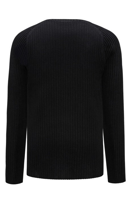 Hugo RED - Stapon - Ribbed cotton sweater with sleeve detail