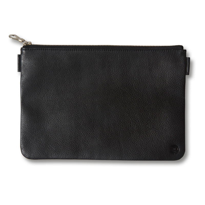 RG - Leather Travel Pouch (Black)