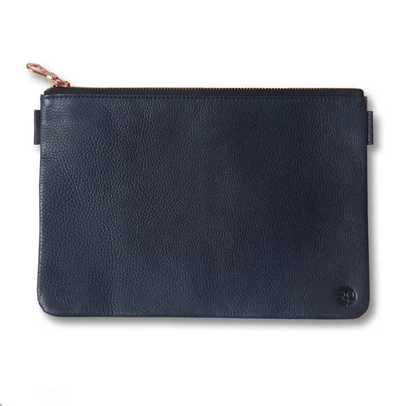 RG - Leather Travel Pouch (Navy)