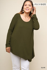 Asymmetrical Top - Olive