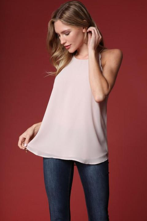 Scalloped Cami - Oyster