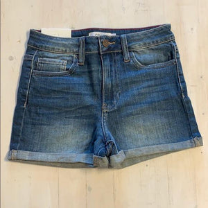 Mid Rise Cuff Shorts - Lt Denim S