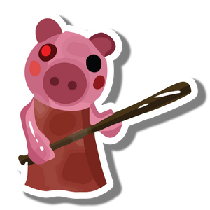 Piggy Laminated Vinyl Sticker Sango