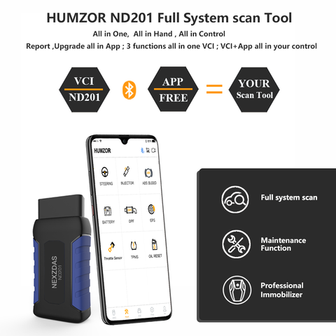 NEXZDAS ND201 Full-system Diagnostic Tool