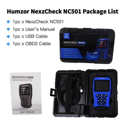 NexzCheck NC501 OBD2&EOBD Scanner Car Code Reader Diagnosis Tool, Read/Clear Codes for Engine...
