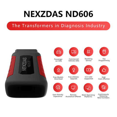 Humzor NexzDAS ND606 Gasoline and Diesel Integrated  Auto Diagnosis Tool OBD2 Scanner for Both Cars and Heavy Duty Trucks