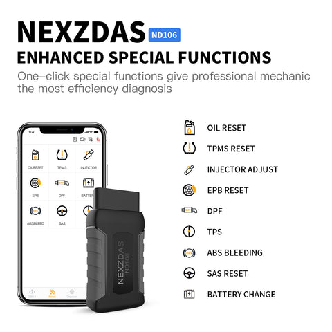 NEXZDAS ND106 Comprehensive Resetting Tool