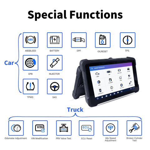 Humzor NexzPad Full System OBD2 10.1-inch Tablet Scanner Car Diagnostic Tool Key Programmer ABS/EPB/SAS/DPF/Oil Reset