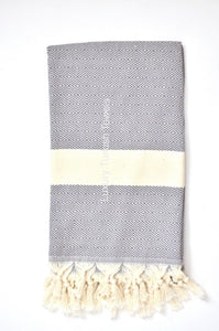 Diamond Turkish Towel - Dark Grey