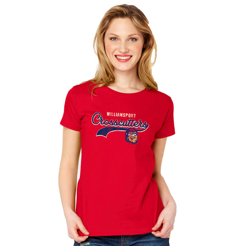 Williamsport Crosscutters Womens Red Crew Tshirt