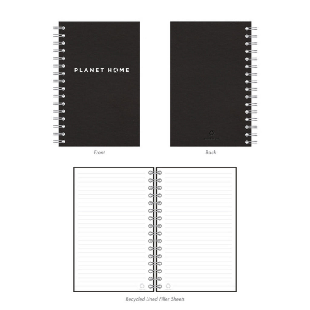 Notebooks - Black Cover - 'Planet Home Design'