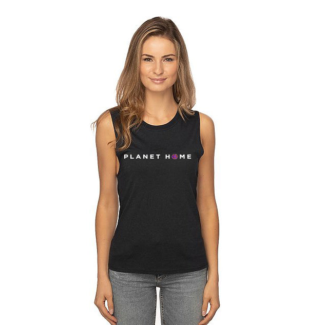 Women's Tank - Black - 'Planet Home Design'