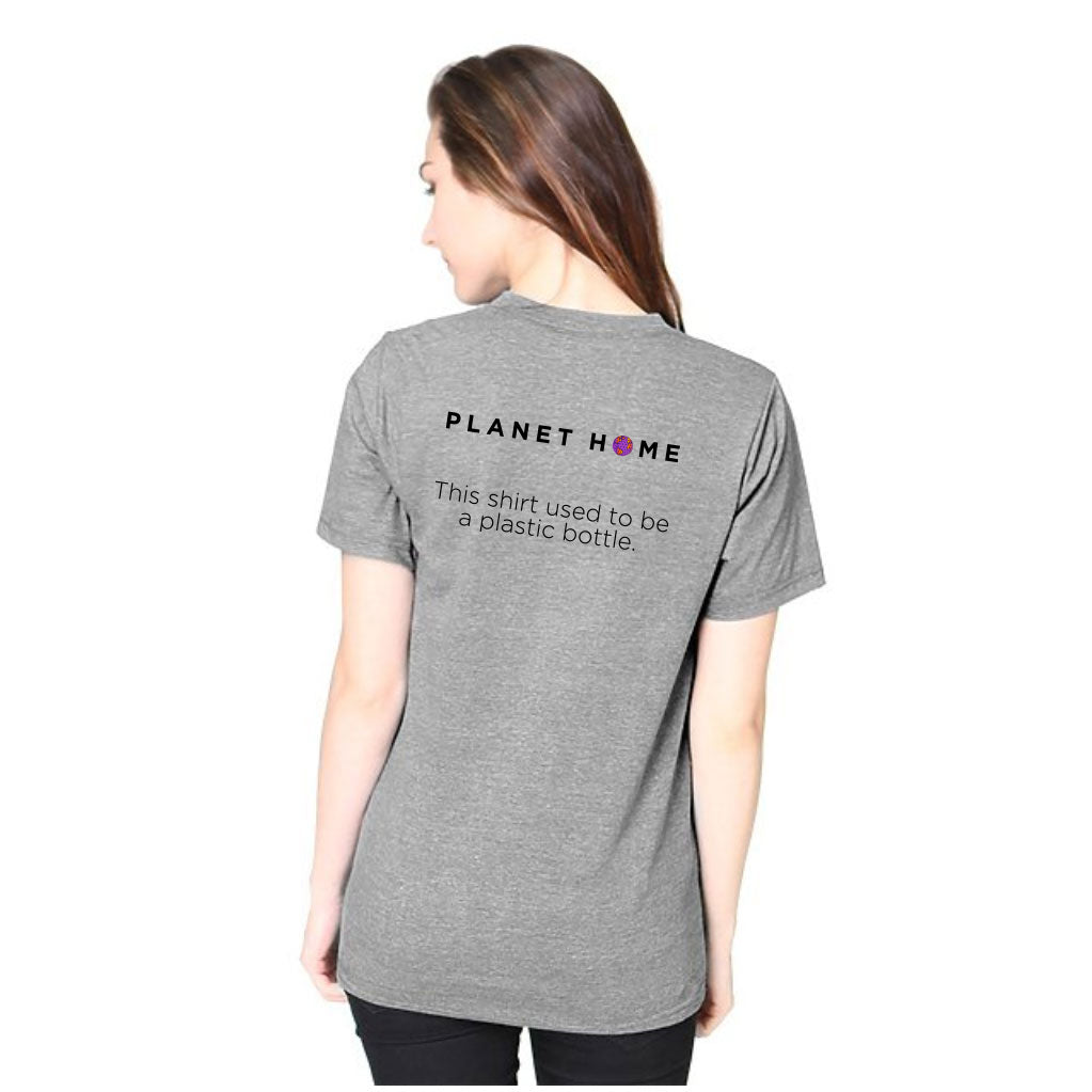 Women's SS Tee - Heather Dusk Grey - 'Solutions Design'