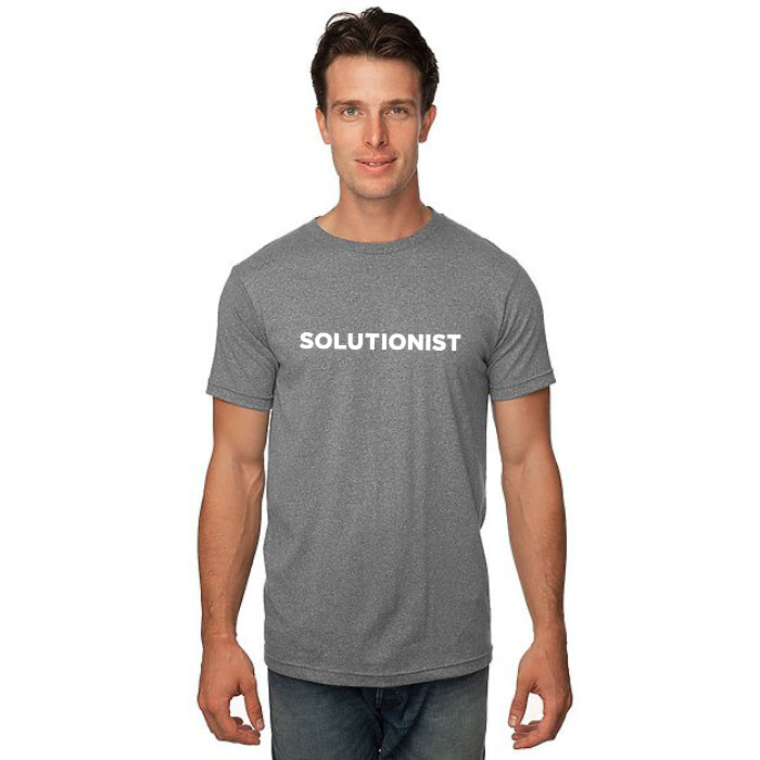 Men's SS Tee - Heather Dusk Grey - 'Solutions Design'