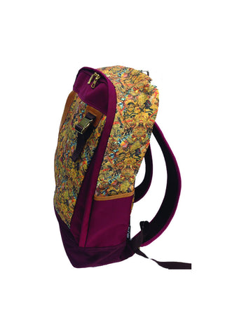 """Bag of Noise"" Back Pack (Color: Burgundy)"