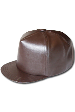 Perfect Beat Leather Cap (Brown)